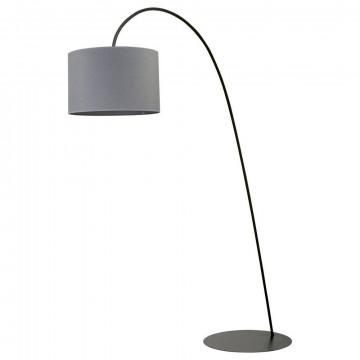 Торшер Nowodvorski Alice 6818, 1xE27x100W, черный, серый, металл, текстиль
