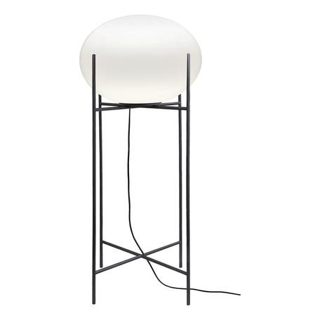 Торшер Nowodvorski Nuage 9750, 1xE27x60W, черный, белый, металл, стекло