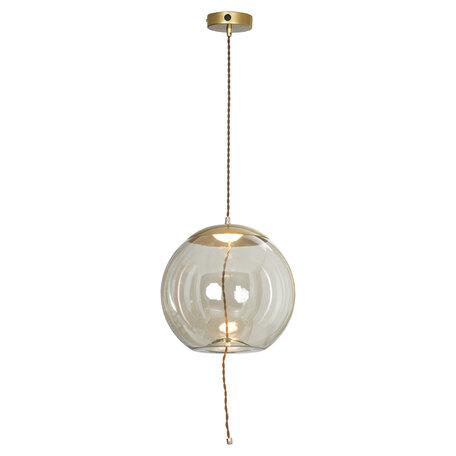 Подвесной светодиодный светильник Lussole Loft Acquario LSP-8356, IP21, LED 5W 3000K 550lm, матовое золото, прозрачный, металл, стекло