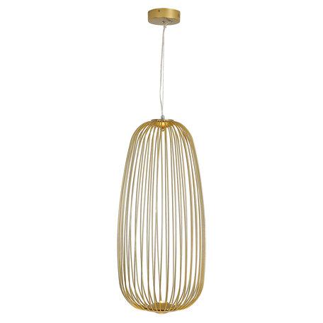Подвесной светодиодный светильник Lussole Loft Gabbia LSP-8358, IP21, LED 10W 3000K 1100lm, матовое золото, металл
