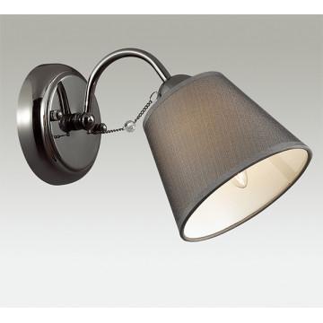 Бра Lumion Porta 2974/1W, 1xE14x40W, черный хром, серый, прозрачный, хром, металл, текстиль, хрусталь - миниатюра 3