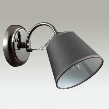 Бра Lumion Porta 2974/1W, 1xE14x40W, черный хром, серый, прозрачный, хром, металл, текстиль, хрусталь - миниатюра 4