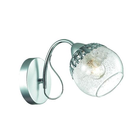 Бра Lumion Nevette 3020/1W, 1xE14x60W, никель, хром, прозрачный, металл, стекло