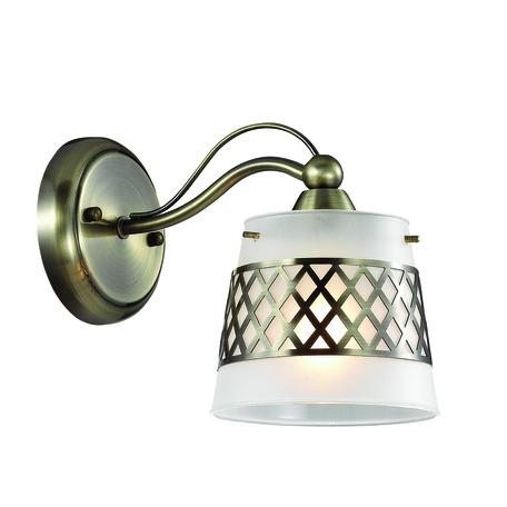 Бра Lumion Castella 3050/1W, 1xE14x40W, бронза, белый, металл, стекло