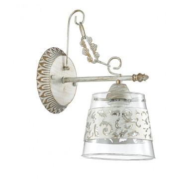 Бра Lumion Corsaro 3052/1W, 1xE14x40W, белый с золотой патиной, прозрачный, металл, стекло - миниатюра 2