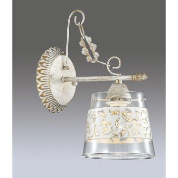 Бра Lumion Corsaro 3052/1W, 1xE14x40W, белый с золотой патиной, прозрачный, металл, стекло - миниатюра 3