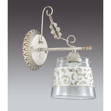 Бра Lumion Corsaro 3052/1W, 1xE14x40W, белый с золотой патиной, прозрачный, металл, стекло - миниатюра 4