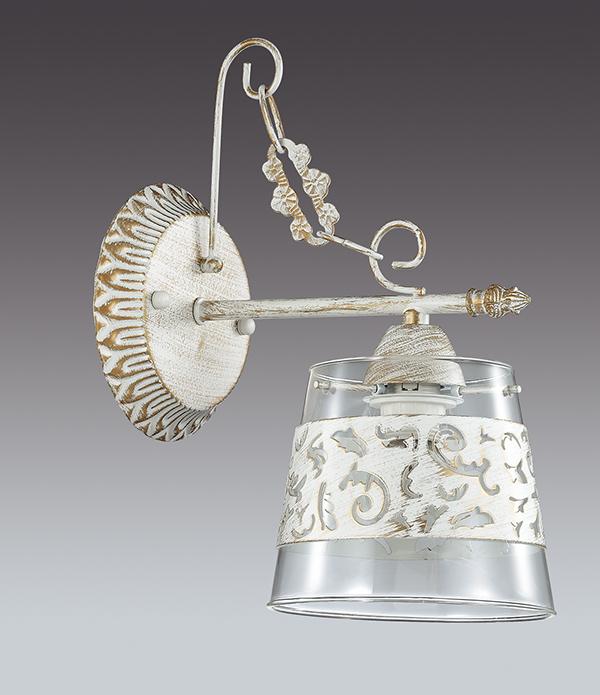 Бра Lumion Corsaro 3052/1W, 1xE14x40W, белый с золотой патиной, прозрачный, металл, стекло - фото 4