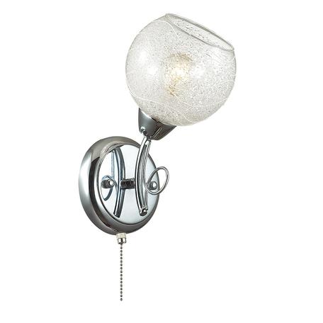 Бра Lumion Nevette 3063/1W, 1xE14x60W, хром, прозрачный, металл, стекло