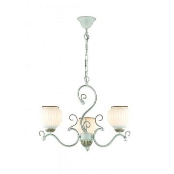 Подвесная люстра Lumion Efetta 2855/3, 3xE27x60W, белый с золотой патиной, белый, металл, стекло - миниатюра 1