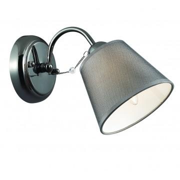 Бра Lumion Porta 2974/1W, 1xE14x40W, хром, серый, прозрачный, металл, текстиль, хрусталь