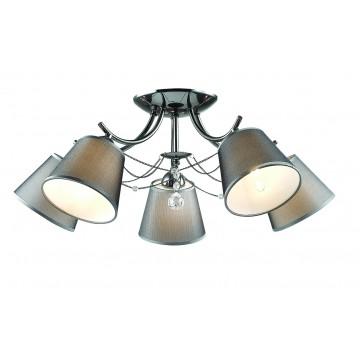 Потолочная люстра Lumion Porta 2974/5C, 5xE14x40W, хром, серый, прозрачный, металл, текстиль, хрусталь - миниатюра 1