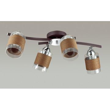 Потолочная люстра с регулировкой направления света Lumion Filla 3030/4CA, 4xE27x60W, коричневый, хром, прозрачный, металл, стекло, текстиль - миниатюра 4