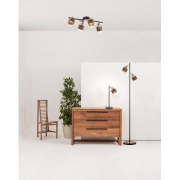 Потолочная люстра с регулировкой направления света Lumion Filla 3030/4CA, 4xE27x60W, коричневый, хром, прозрачный, металл, стекло, текстиль - миниатюра 5