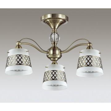 Потолочная люстра Lumion Castella 3050/3C, 3xE14x40W, бронза, прозрачный, белый, металл, стекло - миниатюра 4