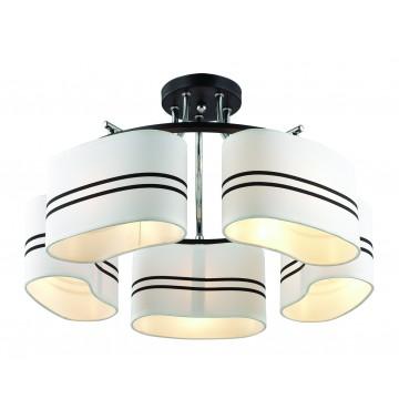 Потолочная люстра Lumion Ivara 3056/5C, 5xE27x40W, венге, хром, белый, черный, металл, текстиль