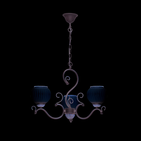 Подвесная люстра Lumion Efetta 2855/3, 3xE27x60W, белый с золотой патиной, белый, металл, стекло