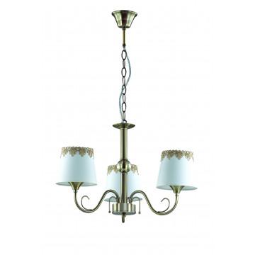 Подвесная люстра Lumion Placida 2998/3, 3xE14x40W, бронза, белый, металл, стекло, текстиль - миниатюра 2