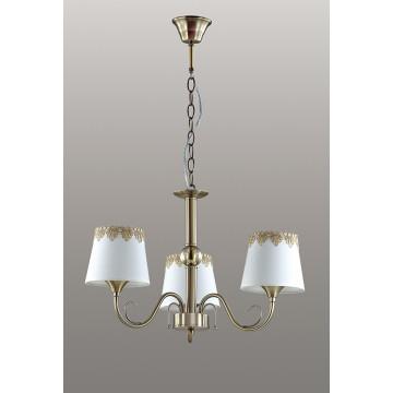 Подвесная люстра Lumion Placida 2998/3, 3xE14x40W, бронза, белый, металл, стекло, текстиль - миниатюра 4