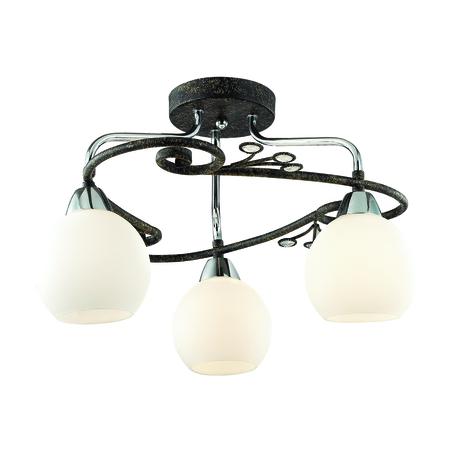 Потолочная люстра Lumion Sivilla 2851/3C, 3xE14x40W, черный, белый, металл, хрусталь, стекло - миниатюра 1