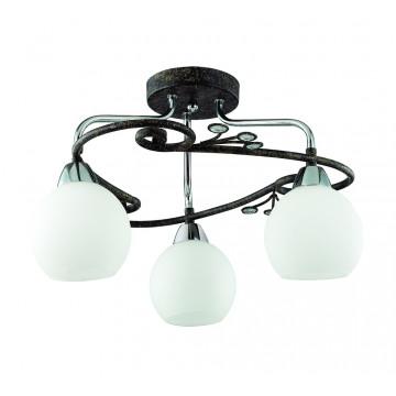 Потолочная люстра Lumion Sivilla 2851/3C, 3xE14x40W, черный, белый, металл, хрусталь, стекло - миниатюра 2