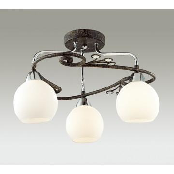Потолочная люстра Lumion Sivilla 2851/3C, 3xE14x40W, черный, белый, металл, хрусталь, стекло - миниатюра 3