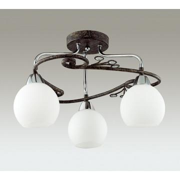 Потолочная люстра Lumion Sivilla 2851/3C, 3xE14x40W, черный, белый, металл, хрусталь, стекло - миниатюра 4