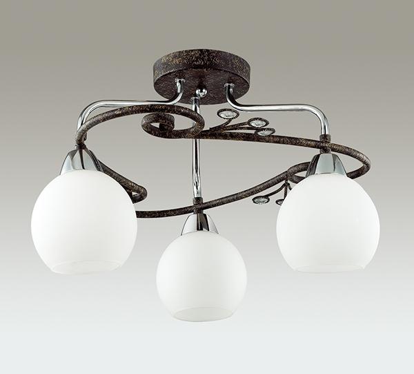 Потолочная люстра Lumion Sivilla 2851/3C, 3xE14x40W, черный, белый, металл, хрусталь, стекло - фото 4