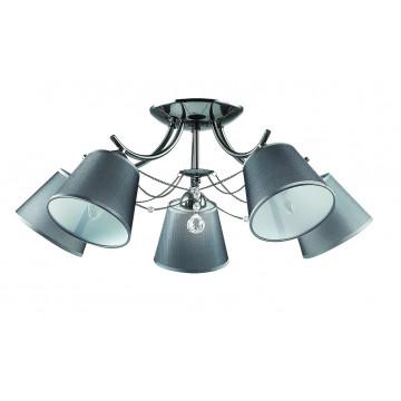 Потолочная люстра Lumion Porta 2974/5C, 5xE14x40W, черный хром, серый, прозрачный, хром, металл, текстиль, хрусталь - миниатюра 2