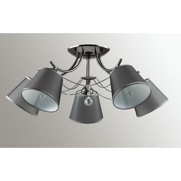 Потолочная люстра Lumion Porta 2974/5C, 5xE14x40W, черный хром, серый, прозрачный, хром, металл, текстиль, хрусталь - миниатюра 4