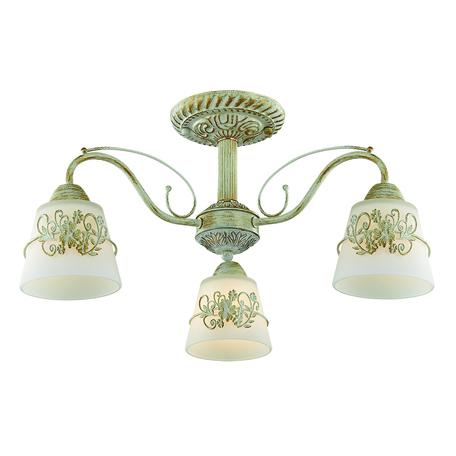 Потолочная люстра Lumion Veva 3003/3C, 3xE14x40W, белый с золотой патиной, белый, металл, стекло