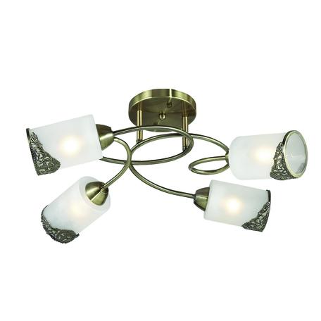Потолочная люстра Lumion Citadella 3012/4C, 4xE27x40W, бронза, белый, металл, стекло