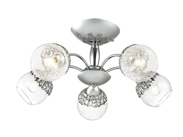 Потолочная люстра Lumion Nevette 3020/5C, 5xE14x60W, никель, хром, прозрачный, металл, стекло - фото 1