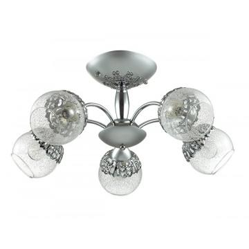 Потолочная люстра Lumion Nevette 3020/5C, 5xE14x60W, никель, хром, прозрачный, металл, стекло - миниатюра 2