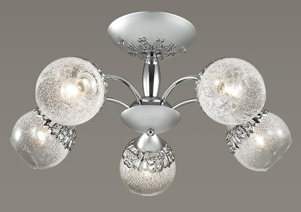 Потолочная люстра Lumion Nevette 3020/5C, 5xE14x60W, никель, хром, прозрачный, металл, стекло - фото 3