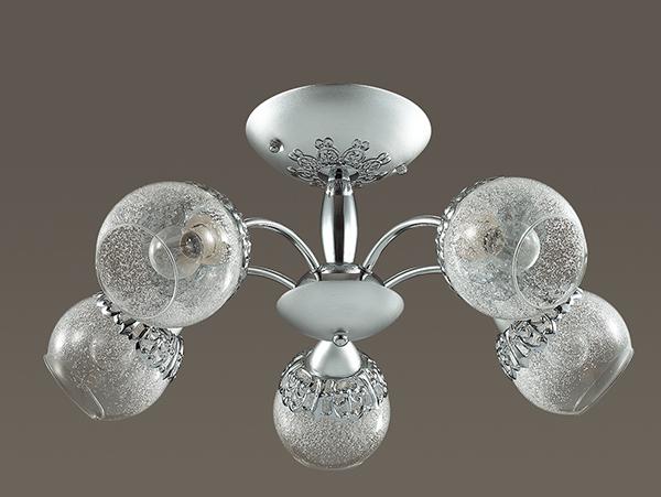 Потолочная люстра Lumion Nevette 3020/5C, 5xE14x60W, никель, хром, прозрачный, металл, стекло - фото 4