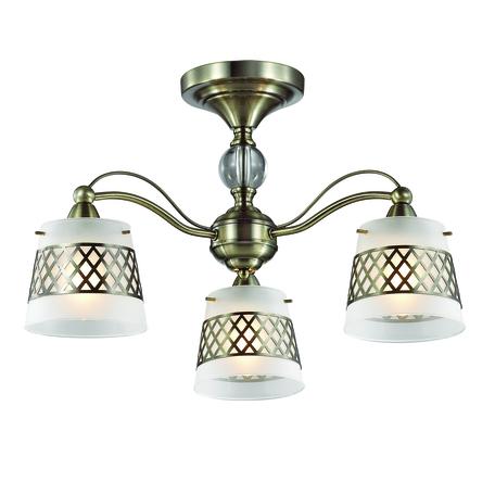 Потолочная люстра Lumion Castella 3050/3C, 3xE14x40W, бронза, прозрачный, белый, металл, стекло