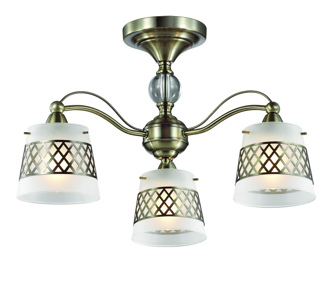 Потолочная люстра Lumion Castella 3050/3C, 3xE14x40W, бронза, прозрачный, белый, металл, стекло - фото 1