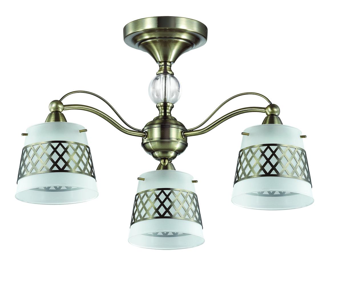 Потолочная люстра Lumion Castella 3050/3C, 3xE14x40W, бронза, прозрачный, белый, металл, стекло - фото 2