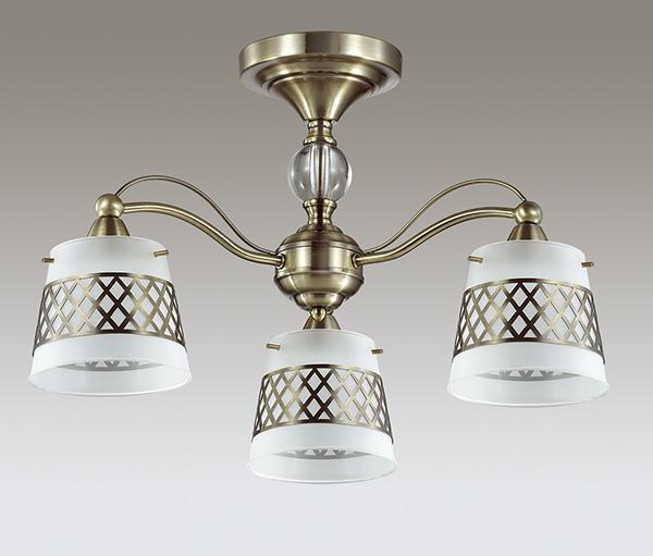 Потолочная люстра Lumion Castella 3050/3C, 3xE14x40W, бронза, прозрачный, белый, металл, стекло - фото 4
