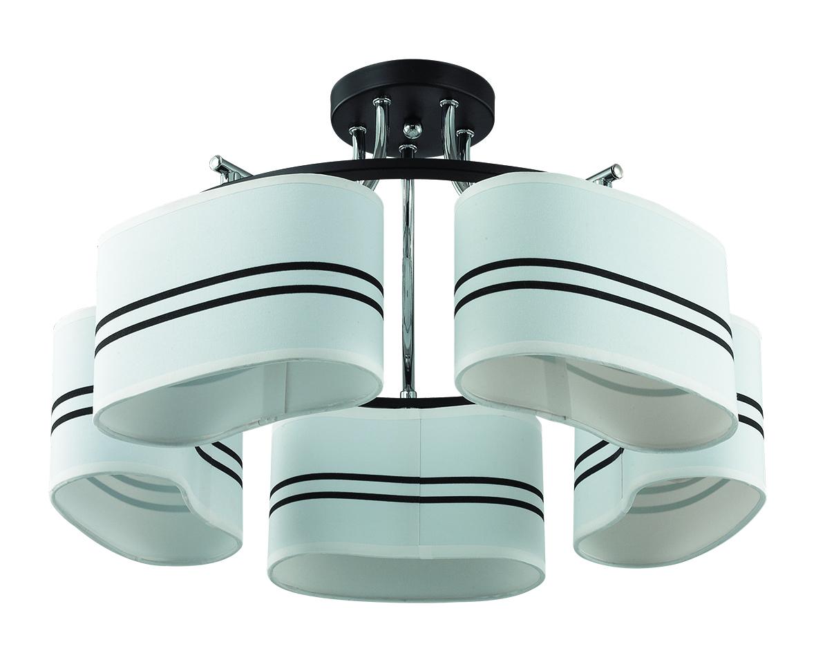 Потолочная люстра Lumion Ivara 3056/5C, 5xE27x40W, венге, хром, белый, черный, металл, текстиль - фото 2
