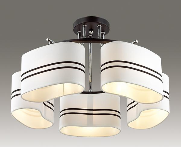 Потолочная люстра Lumion Ivara 3056/5C, 5xE27x40W, венге, хром, белый, черный, металл, текстиль - фото 3