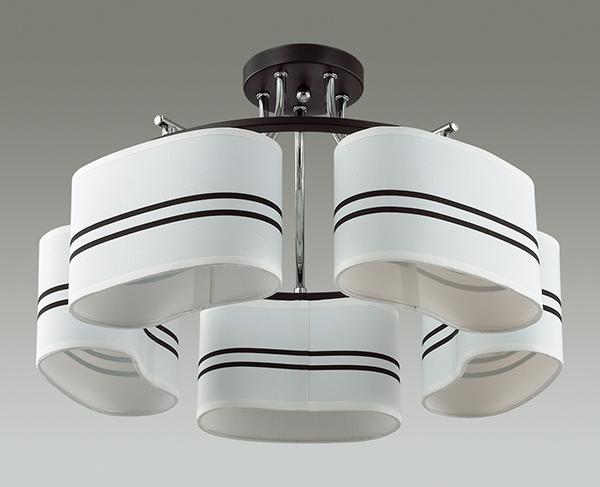 Потолочная люстра Lumion Ivara 3056/5C, 5xE27x40W, венге, хром, белый, черный, металл, текстиль - фото 4