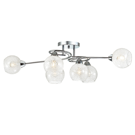 Потолочная люстра Lumion Nevette 3063/6C, 6xE14x60W, хром, прозрачный, металл, стекло