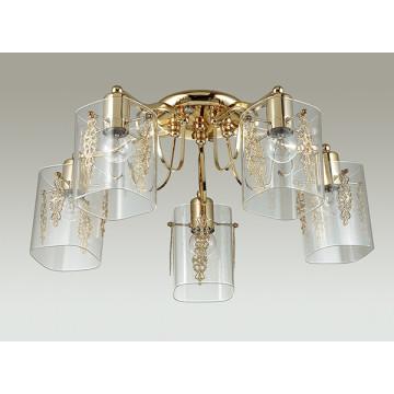 Потолочная люстра Lumion Ora 3069/5C, 5xE27x60W, золото, прозрачный, металл, стекло - миниатюра 4