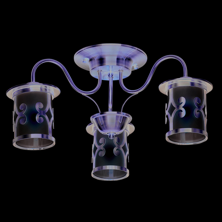 Потолочная люстра Lumion Sekvana 3118/3C, 3xE27x40W, бронза, белый, металл, стекло