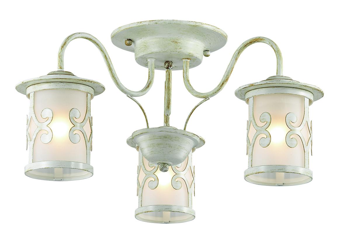 Потолочная люстра Lumion Sekvana 3125/3C, 3xE27x40W, белый с золотой патиной, металл, металл со стеклом - фото 1