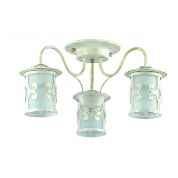Потолочная люстра Lumion Sekvana 3125/3C, 3xE27x40W, белый с золотой патиной, металл, металл со стеклом - миниатюра 2