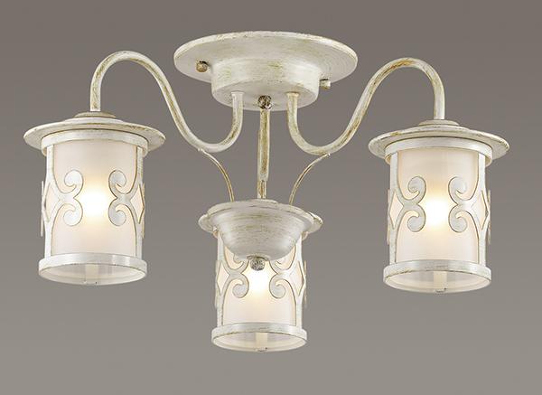 Потолочная люстра Lumion Sekvana 3125/3C, 3xE27x40W, белый с золотой патиной, металл, металл со стеклом - фото 3
