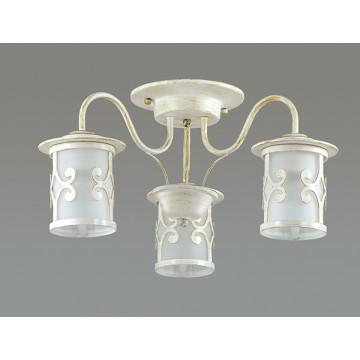 Потолочная люстра Lumion Sekvana 3125/3C, 3xE27x40W, белый с золотой патиной, металл, металл со стеклом - миниатюра 4